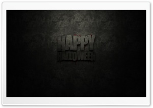 Dark Halloween Greeting HD Wide Wallpaper for 4K UHD Widescreen desktop & smartphone