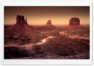 Dark Monument Valley, Arizona HD Wide Wallpaper for Widescreen