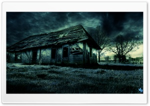 Dark Old House HD Wide Wallpaper for Widescreen