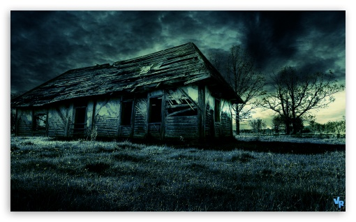Dark Old House HD wallpaper for Wide 5:3 Widescreen WGA ; HD 16:9 High Definition WQHD QWXGA 1080p 900p 720p QHD nHD ; Mobile 5:3 16:9 - WGA WQHD QWXGA 1080p 900p 720p QHD nHD ;