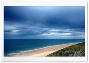 Dark Sky Over A Blue Sea HD Wide Wallpaper for Widescreen