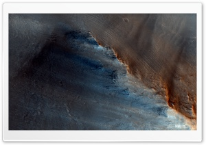 Dark Spot on Mars, NASA HD Wide Wallpaper for Widescreen