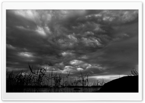 Dark Stormy Clouds HD Wide Wallpaper for Widescreen