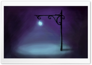 Dark Street Painting HD Wide Wallpaper for Widescreen