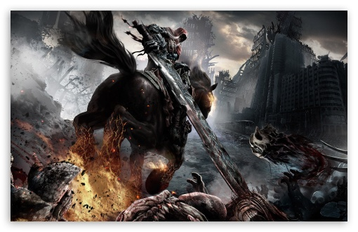 Darksiders Horsemen HD wallpaper for Wide 16:10 5:3 Widescreen WHXGA WQXGA WUXGA WXGA WGA ; HD 16:9 High Definition WQHD QWXGA 1080p 900p 720p QHD nHD ; Standard 4:3 5:4 3:2 Fullscreen UXGA XGA SVGA QSXGA SXGA DVGA HVGA HQVGA devices ( Apple PowerBook G4 iPhone 4 3G 3GS iPod Touch ) ; iPad 1/2/Mini ; Mobile 4:3 5:3 3:2 16:9 5:4 - UXGA XGA SVGA WGA DVGA HVGA HQVGA devices ( Apple PowerBook G4 iPhone 4 3G 3GS iPod Touch ) WQHD QWXGA 1080p 900p 720p QHD nHD QSXGA SXGA ;