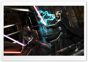 Darth Nihilus Vs Darth Revan HD Wide Wallpaper for Widescreen