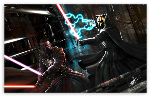 Darth Nihilus Vs Darth Revan Ultra Hd Desktop Background