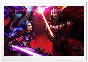 Darth Vader and Jedi Queen Ultra HD Wallpaper for 4K UHD Widescreen desktop, tablet & smartphone