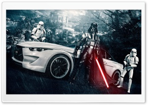 Darth Vader and Stormtroopers HD Wide Wallpaper for Widescreen