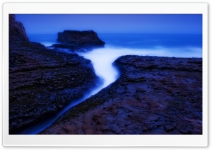 Davenport Beach Twilight HD Wide Wallpaper for Widescreen