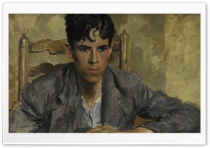 David At The Table Painting By Augustus John HD Wide Wallpaper for Widescreen
