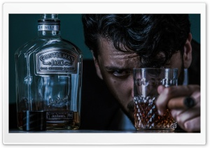 Davis Schulz Whiskey Jack Daniels Drunk HD Wide Wallpaper for Widescreen