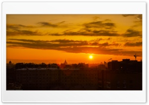 Dawn in Moscow ART.IRBIS Production HD Wide Wallpaper for Widescreen