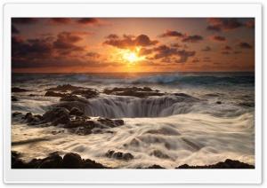 Dawn Sea Rocks Horizon Ultra HD Wallpaper for 4K UHD Widescreen desktop, tablet & smartphone