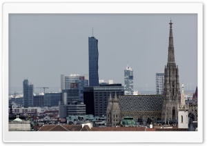 DC Tower und Stephansdom Wien HD Wide Wallpaper for Widescreen