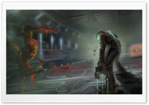 Dead Space 3 Drawing HD Wide Wallpaper for Widescreen