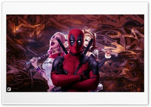 Deadpool and Harley Quinn HD Wide Wallpaper for Widescreen