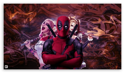 Deadpool And Harley Quinn Ultra Hd Desktop Background