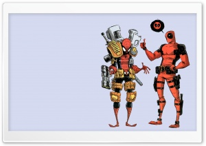 Deadpool And Spiderman HD Wide Wallpaper for 4K UHD Widescreen desktop & smartphone