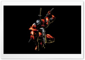Deadpool Cartoon HD Wide Wallpaper for Widescreen