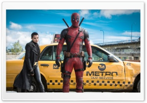 Deadpool Ryan Reynolds Brianna Hildebrand HD Wide Wallpaper for Widescreen