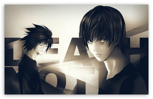 Death Note Anime HD wallpaper for Wide 16:10 5:3 Widescreen WHXGA WQXGA WUXGA WXGA WGA ; Standard 3:2 Fullscreen DVGA HVGA HQVGA devices ( Apple PowerBook G4 iPhone 4 3G 3GS iPod Touch ) ; Mobile 5:3 3:2 16:9 - WGA DVGA HVGA HQVGA devices ( Apple PowerBook G4 iPhone 4 3G 3GS iPod Touch ) WQHD QWXGA 1080p 900p 720p QHD nHD ;