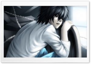 Death Note, Lawliet HD Wide Wallpaper for 4K UHD Widescreen desktop & smartphone