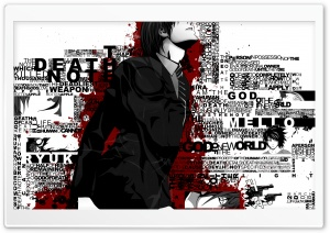 Death Note Typography HD Wide Wallpaper for Widescreen