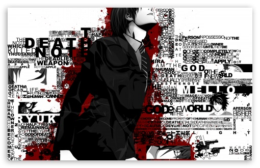 Death Note Typography HD wallpaper for Wide 16:10 5:3 Widescreen WHXGA WQXGA WUXGA WXGA WGA ; HD 16:9 High Definition WQHD QWXGA 1080p 900p 720p QHD nHD ; Standard 4:3 5:4 3:2 Fullscreen UXGA XGA SVGA QSXGA SXGA DVGA HVGA HQVGA devices ( Apple PowerBook G4 iPhone 4 3G 3GS iPod Touch ) ; Tablet 1:1 ; iPad 1/2/Mini ; Mobile 4:3 5:3 3:2 16:9 5:4 - UXGA XGA SVGA WGA DVGA HVGA HQVGA devices ( Apple PowerBook G4 iPhone 4 3G 3GS iPod Touch ) WQHD QWXGA 1080p 900p 720p QHD nHD QSXGA SXGA ;