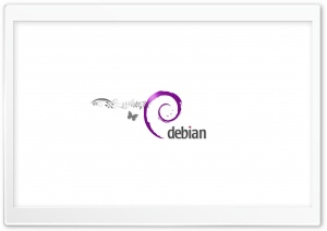 Debian Logo Morado HD Wide Wallpaper for Widescreen