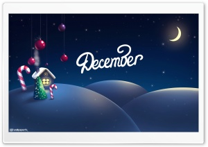 December The Christmas Month HD Wide Wallpaper for 4K UHD Widescreen desktop & smartphone