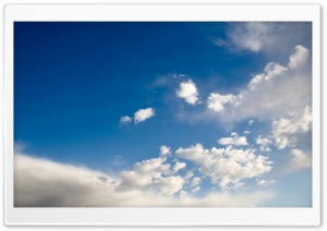 Deep Blue Sky With White Clouds HD Wide Wallpaper for Widescreen