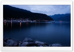 Deep Cove At Dusk HD Wide Wallpaper for 4K UHD Widescreen desktop & smartphone