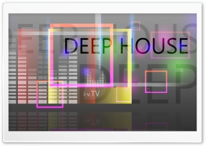 Deep House Music Square Abstract Words 2015 design by Tony Kokhan HD Wide Wallpaper for 4K UHD Widescreen desktop & smartphone