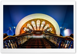 Deep inside the Queen Victoria Building HD Wide Wallpaper for Widescreen