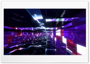 Deep Purple Mirrored Tunnel HD Wide Wallpaper for Widescreen