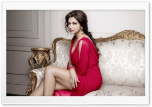 Deepika Padukone Tanishq Photoshoot HD Wide Wallpaper for Widescreen