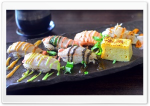 Delicious Sushi HD Wide Wallpaper for Widescreen