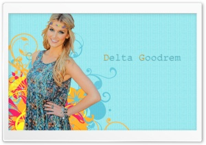 Delta Goodrem Hippie Look HD Wide Wallpaper for Widescreen