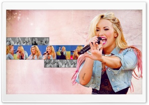 Demi Lovato Singing Ultra HD Wallpaper for 4K UHD Widescreen desktop, tablet & smartphone