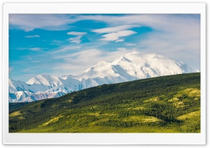 Denali National Park and Preserve, Alaska Range, United States HD Wide Wallpaper for 4K UHD Widescreen desktop & smartphone