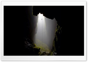 Descending Into Deep Cave HD Wide Wallpaper for Widescreen