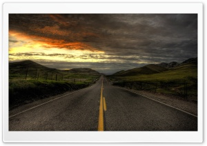 Descending Road HD Wide Wallpaper for Widescreen