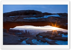 Desert Arch   Winter HD Wide Wallpaper for Widescreen