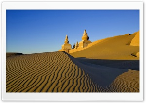 Desert Castle HD Wide Wallpaper for Widescreen