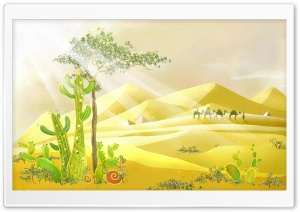 Desert Illustration HD Wide Wallpaper for Widescreen