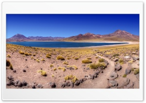 Desert Lake HD Wide Wallpaper for Widescreen