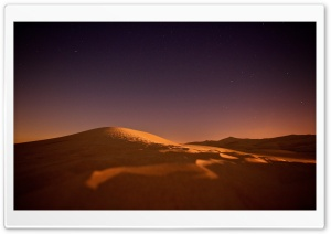 Desert, Night, Sky, Stars HD Wide Wallpaper for 4K UHD Widescreen desktop & smartphone