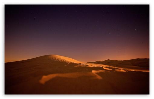 Download Desert, Night, Sky, Stars HD Wallpaper