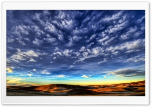 Desert Sky HDR HD Wide Wallpaper for Widescreen